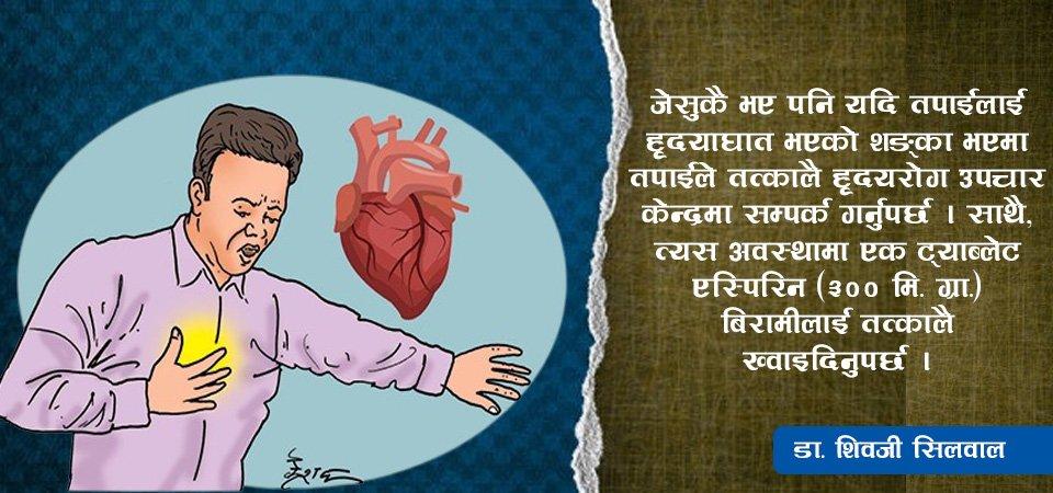 हृदयाघातका लक्षण र रोकथाम