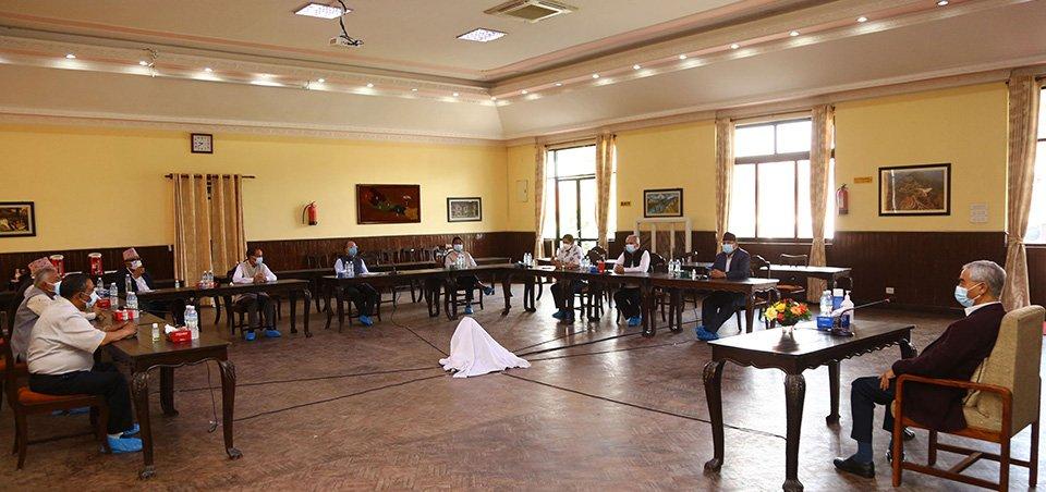 सत्ता गठबन्धनका नेताहरूको बालुवाटारमा बैठक