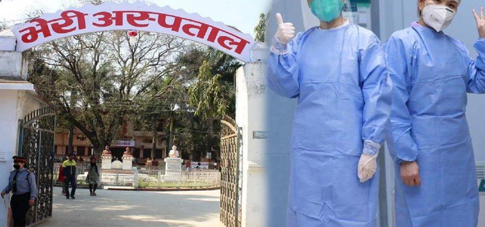 बिरामीको ज्यान जोगाउँदै भेरी अस्पतालका सङ्क्रमित स्वास्थ्यकर्मी