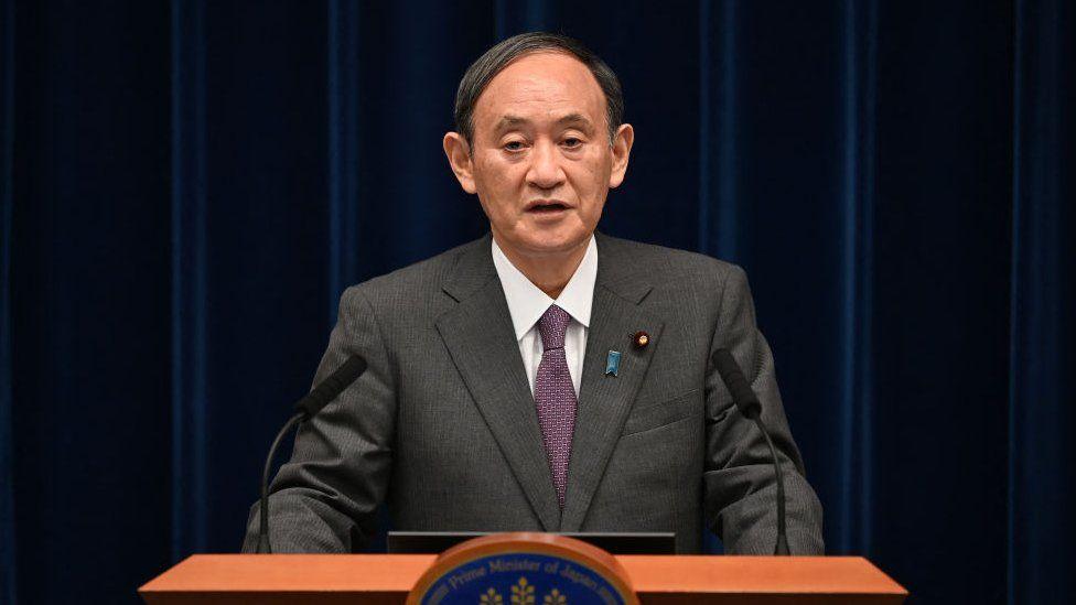 जापानका प्रधानमन्त्री योशिहिदे सुगाले राजीनामा गर्नुहुने